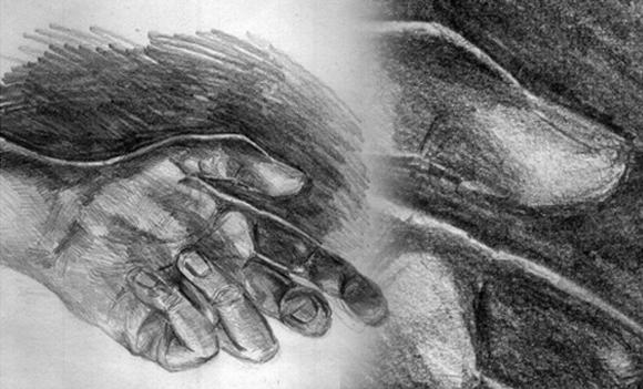 Różnicuj kreskę i twardość ołówka w celu osiągnięcia różnych faktur i dodania ekspresji