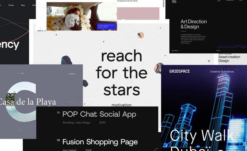 Okładka artykułu Portfolio projektantów i studiów graficznych — Inspirujące strony internetowe - wrzesień 2020