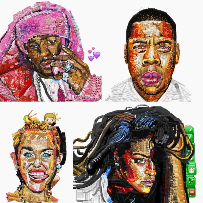 Niezwykłe portrety stworzone przez Yung Jake
