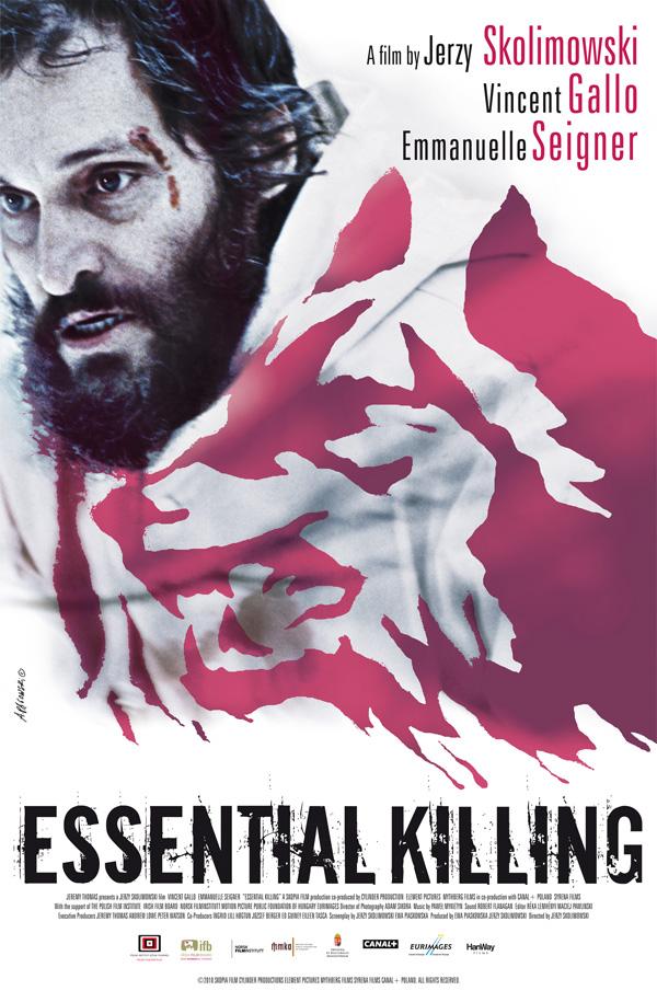 """Plakat filmu """"Essential Killing"""" Jerzego Skolimowskiego"""