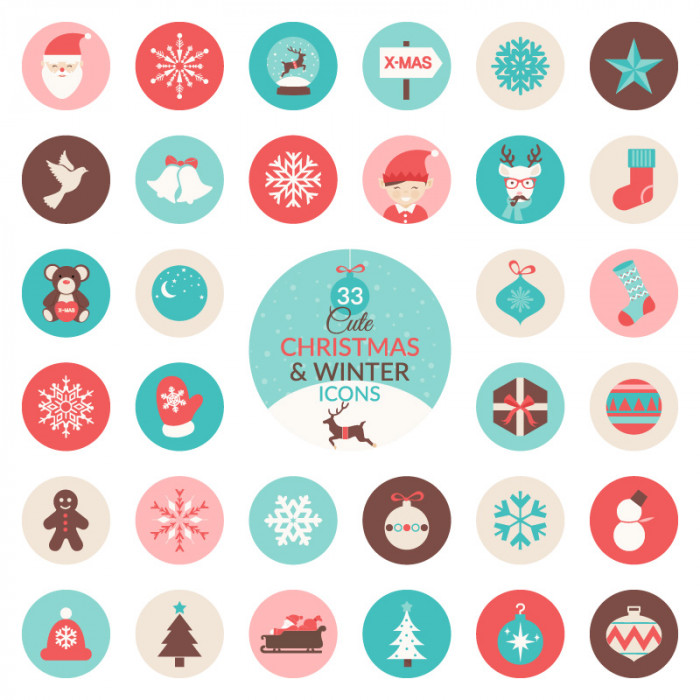 free-christmas-winter-icon-set