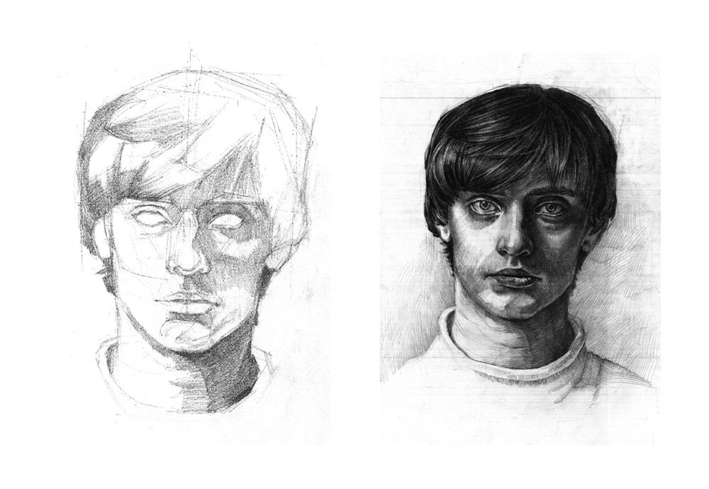 Rysunek twarzy człowieka
