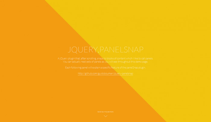 jQuery.panelSnap
