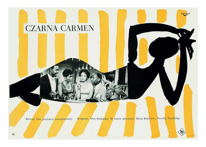 Plakat 6: Wojciech Fangor, Plakat do filmu Czarna Carmen, 1959