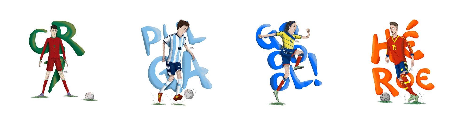 Okładka artykułu Mistrzostwa Świata… w grafice — Czyli projekty inspirowane piłką nożną