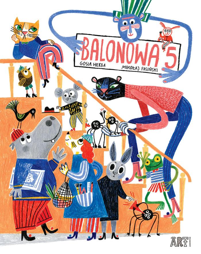 """""""Balonowa 5"""",Mikołaj Pasiński, ilustracje: Gosia Herba"""