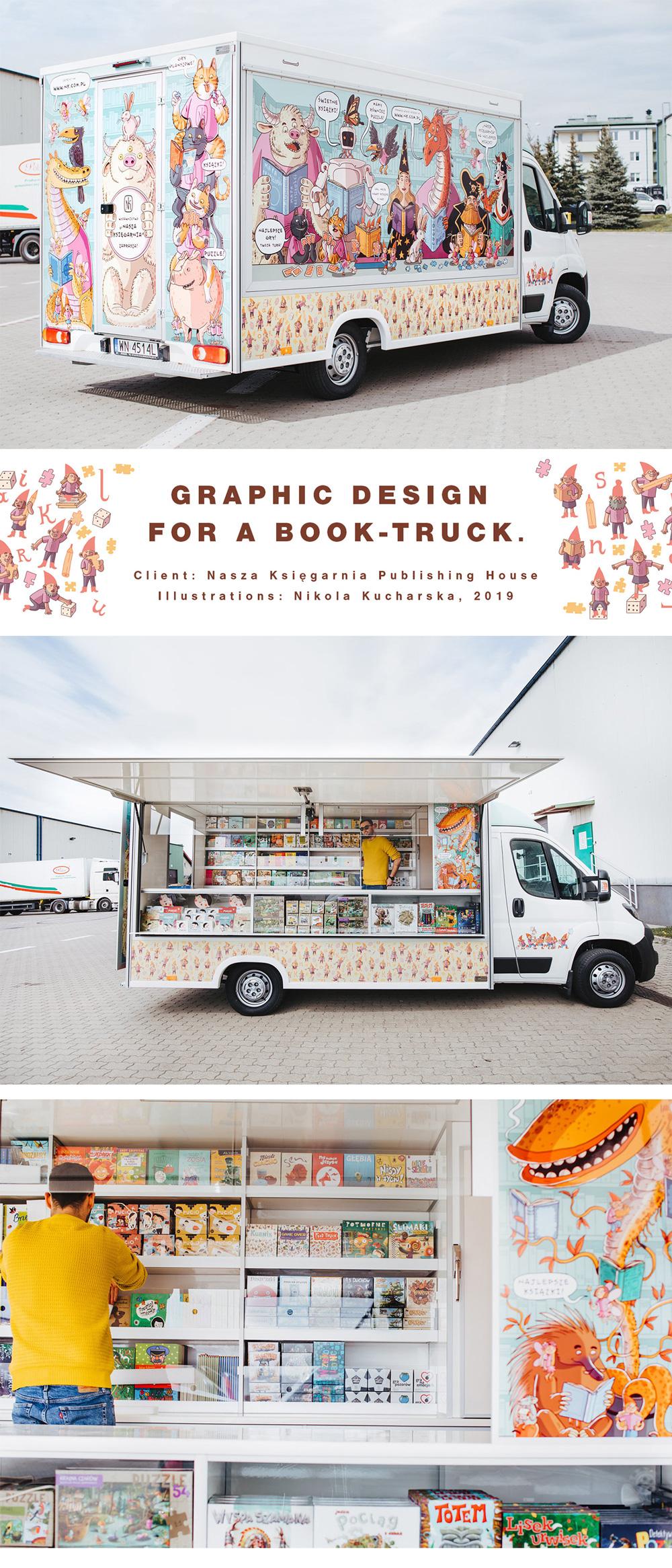 Graphic design for a Book-Truck, Nikola Kucharska
