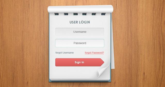 Psd-User-Login-Notebook