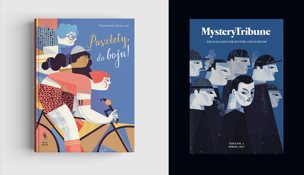 Pasztety do boju!, Wyd. Dwie Siostry (z lewej), Mystery Tribune (z prawej)