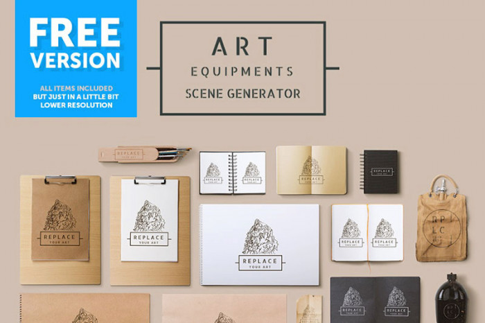 Art-Equipments-Scene-Generator-–-Free-Version