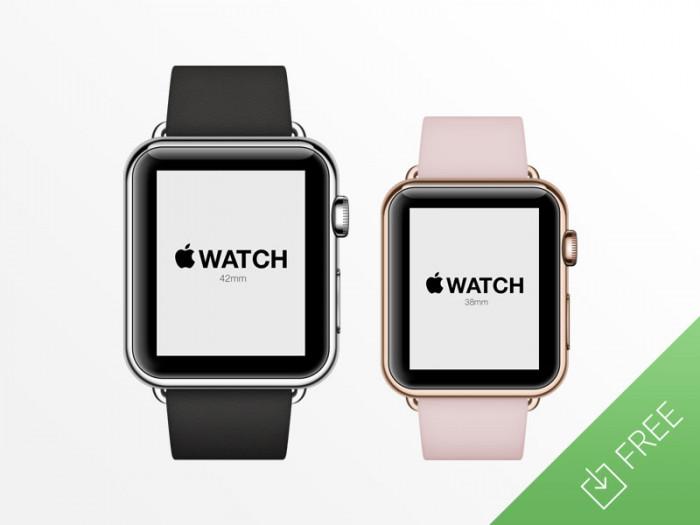 Apple-Watch---Free-Psd-Mockup