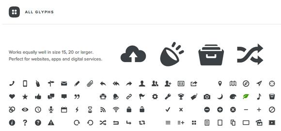 Entypo: 100+ uniwersalnych ikon