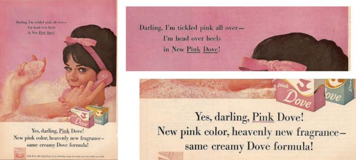 Pink Dove, reklama z około 1960 roku, CapricornOneVintage