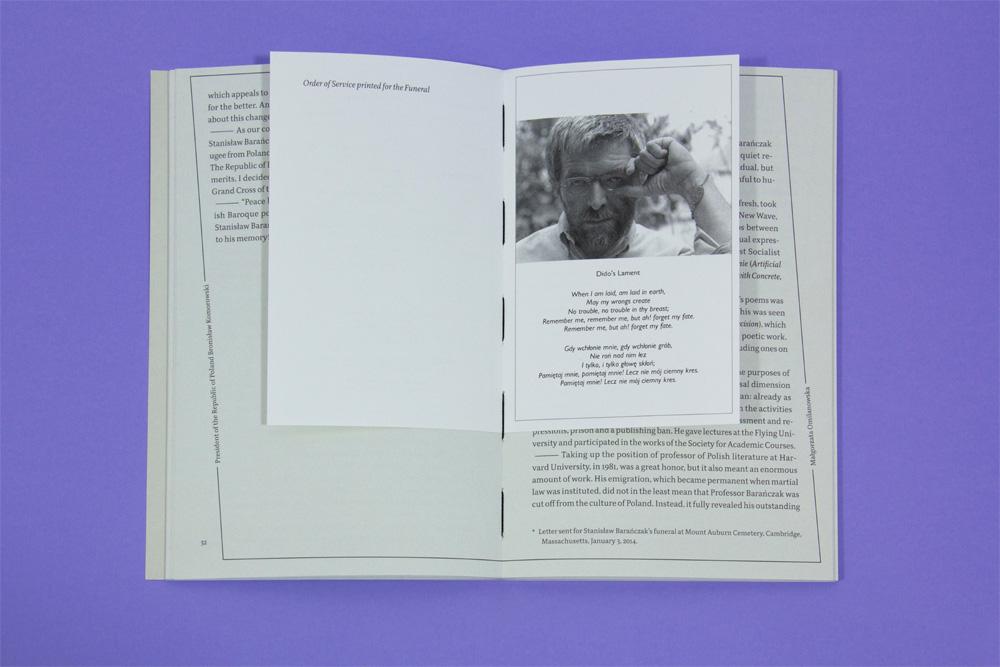 Książka, która powstała z okazji rocznicy śmierci Stanisława Barańczaka