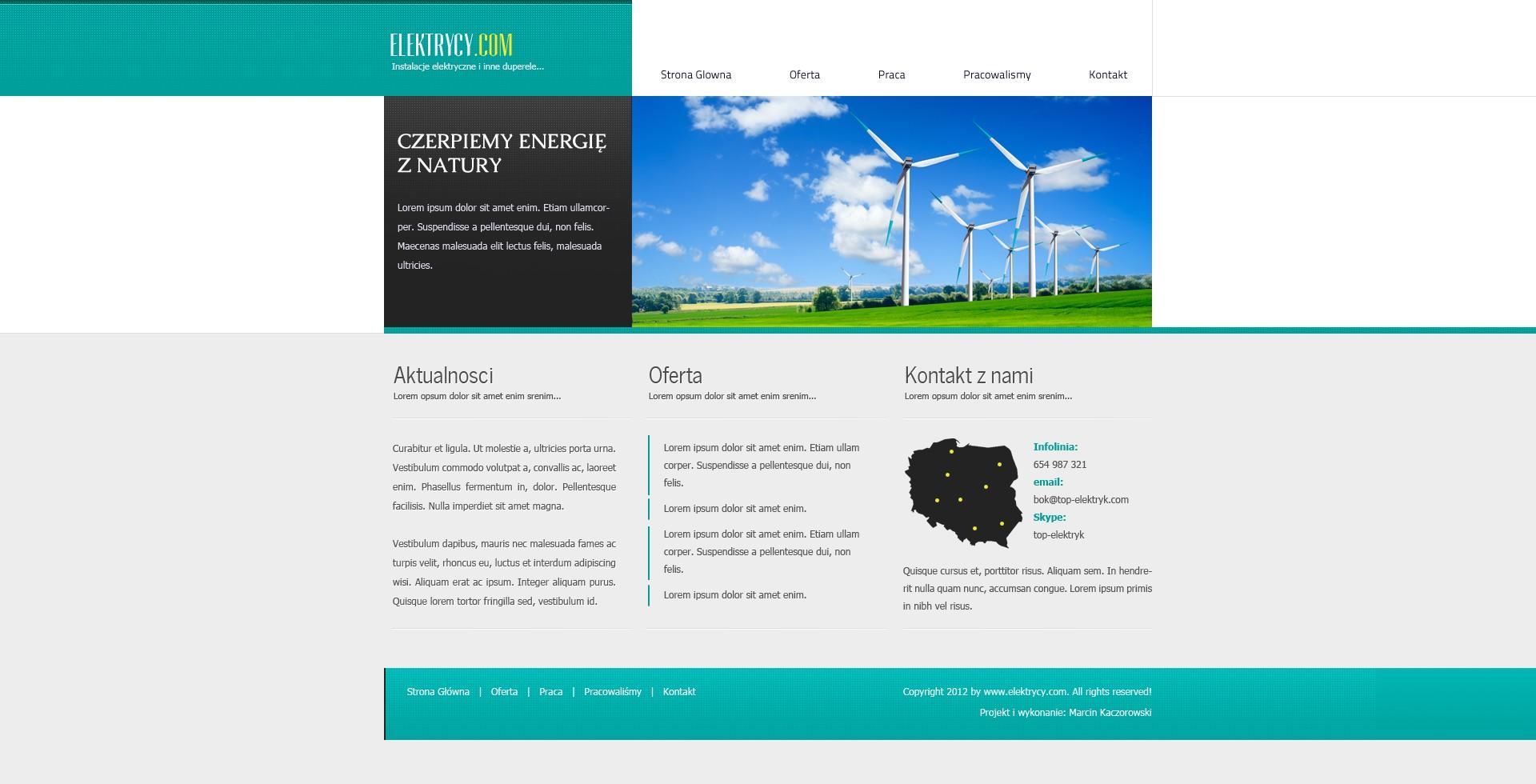21 Projekt layoutu strony firmowej