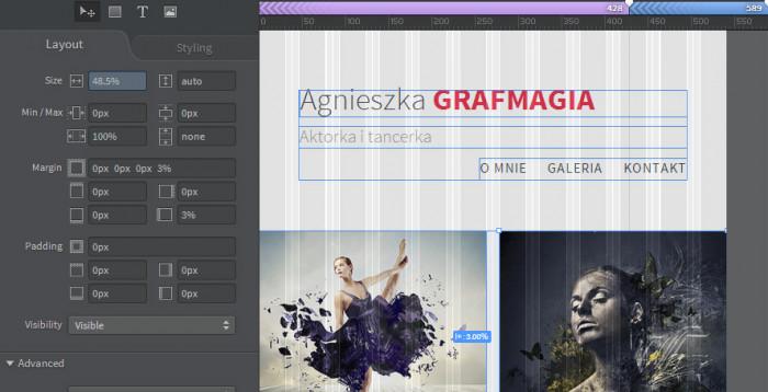 Responsywna-strona-internetowa-z-Adobe-Photoshop-i-Edge-Reflow-Strona-w-widoku-589
