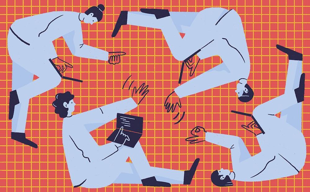 Blog illustrations for Clubhouse, Kasia Bojanowska