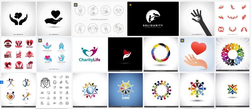 Przykłady logo organizacji charytatywnych