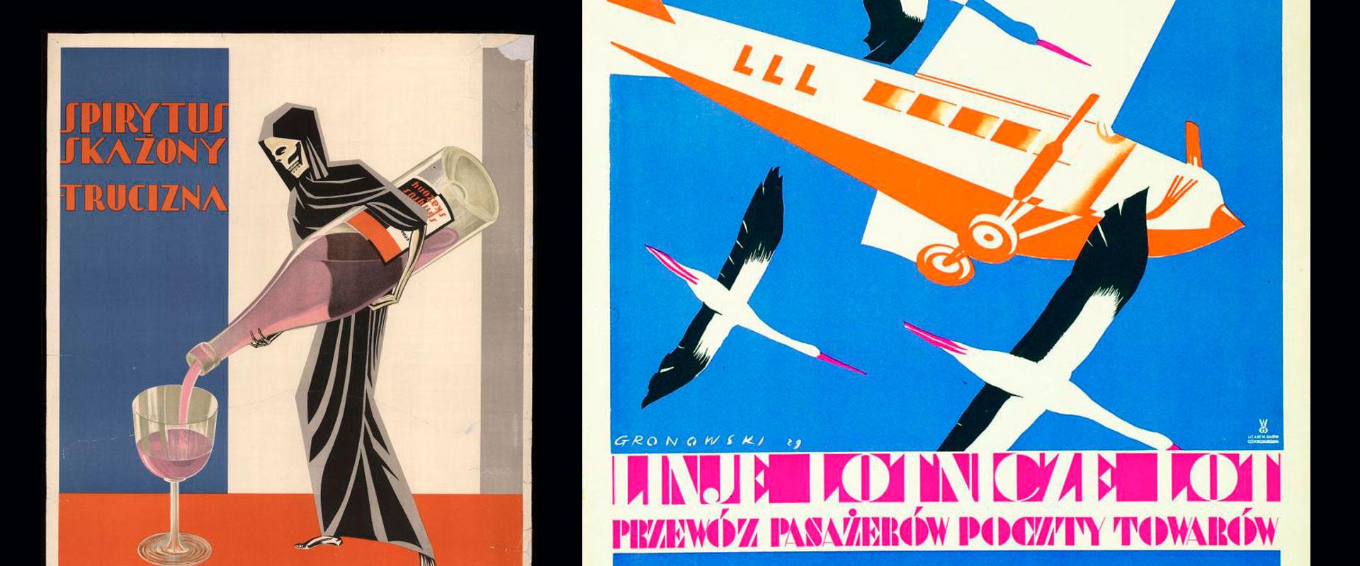 Okładka serii artykułów Polski plakat na przestrzeni lat
