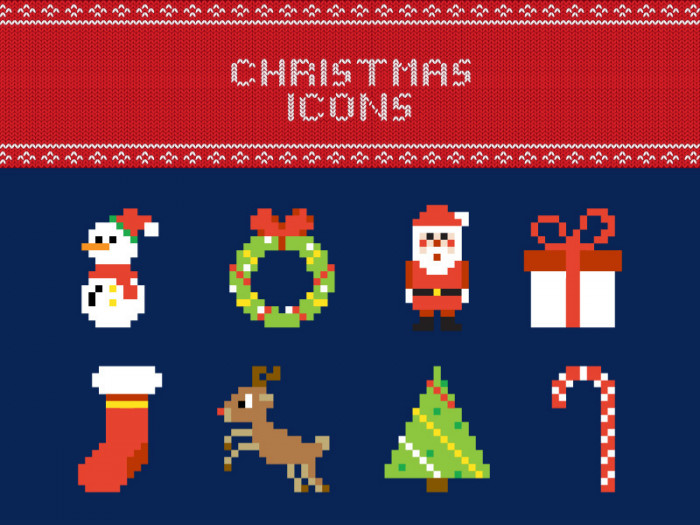free-pixel-christmas-vector-icons