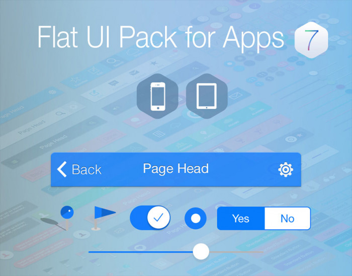 Flat-UI-Pack-for-iOS-7-Apps
