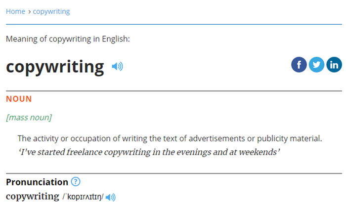 Copywriting - definicja