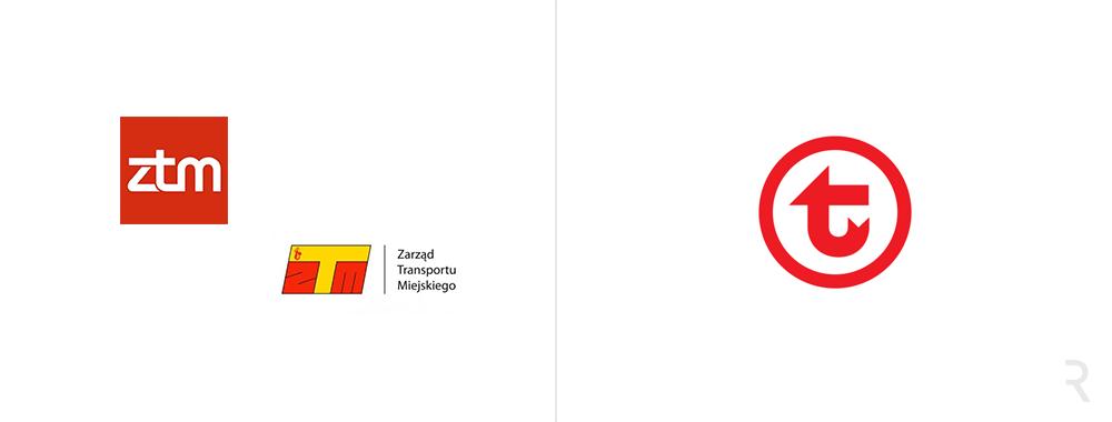 Nowe i stare logo Warszawskiej Komunikacji Miejskiej 2017