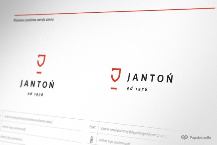 Podstawowa wersja znaku firmy Jantoń