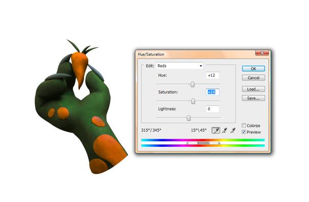 Tworzenie bajkowych grafik przy wykorzystaniu plasteliny Korekcja koloru