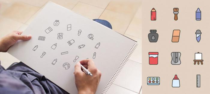 art-tools-free-icon-set