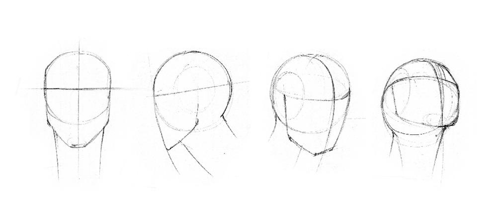 Rysunek głowy człowieka