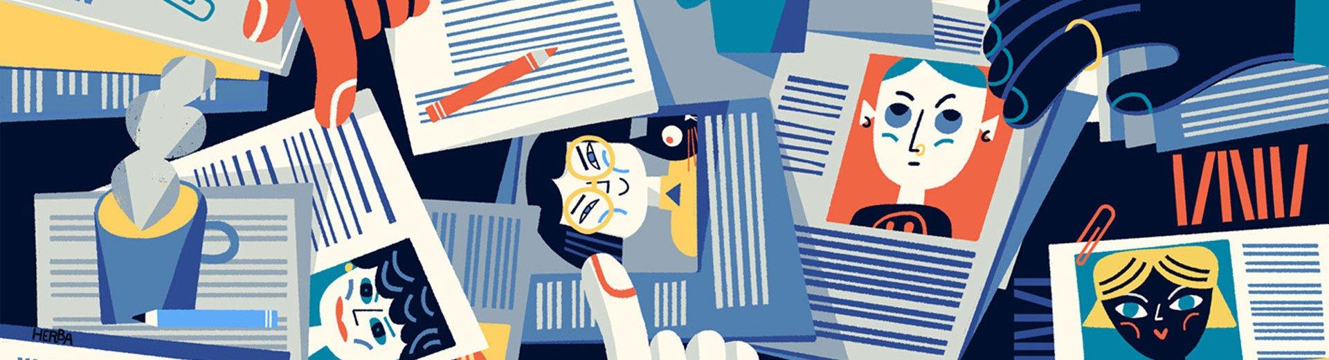 """Okładka artykułu """"Unikam rysowania ilustracji dyktowanej przez klienta"""" — Rozmowa z ilustratorką - Gosią Herbą"""