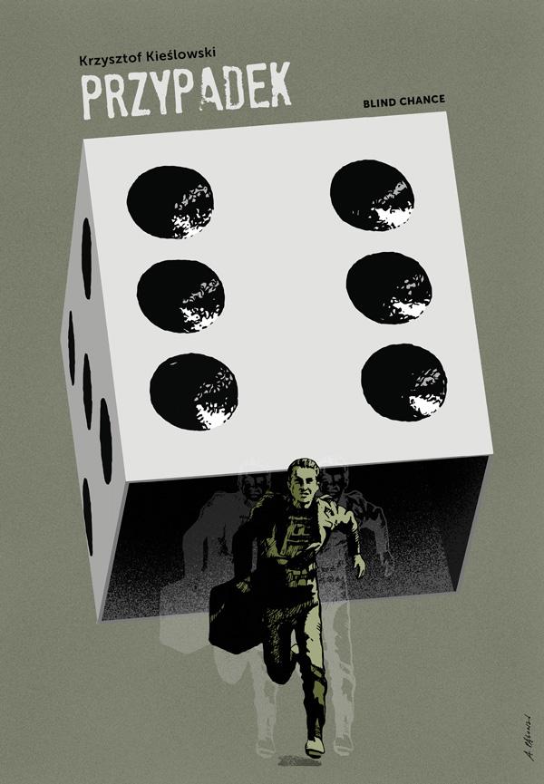 """Plakat filmu """"Przypadek"""" Krzysztofa Kieślowskiego"""