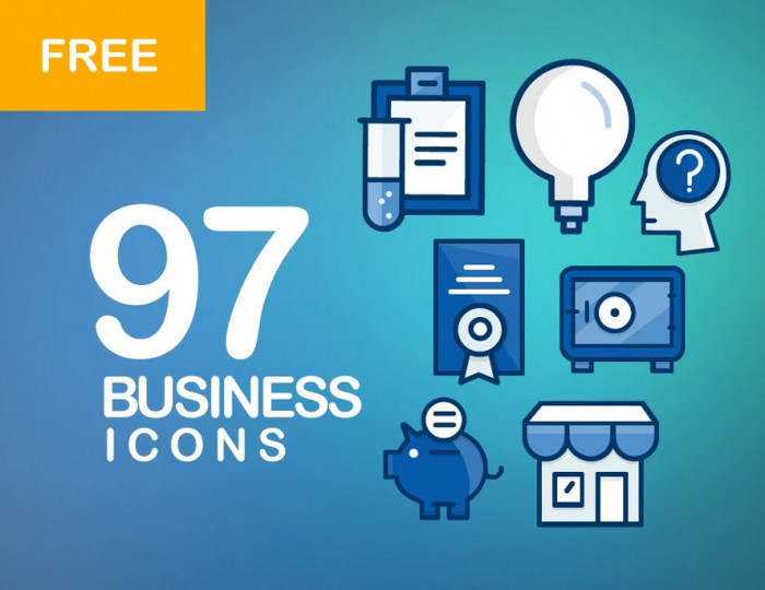 97-free-filled-line-icons