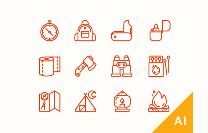freebie-camping-icons