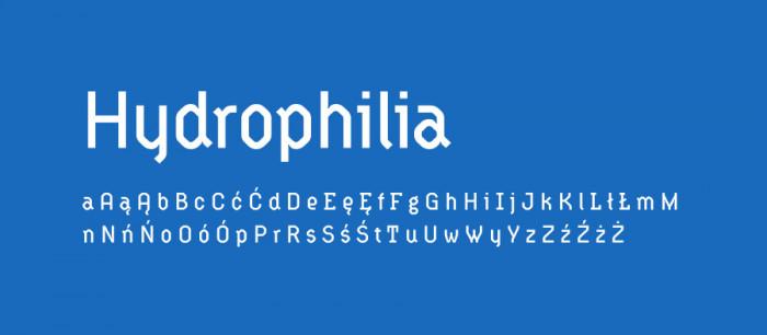 01 Hydrophilia Darmowe fonty z polskimi znakami