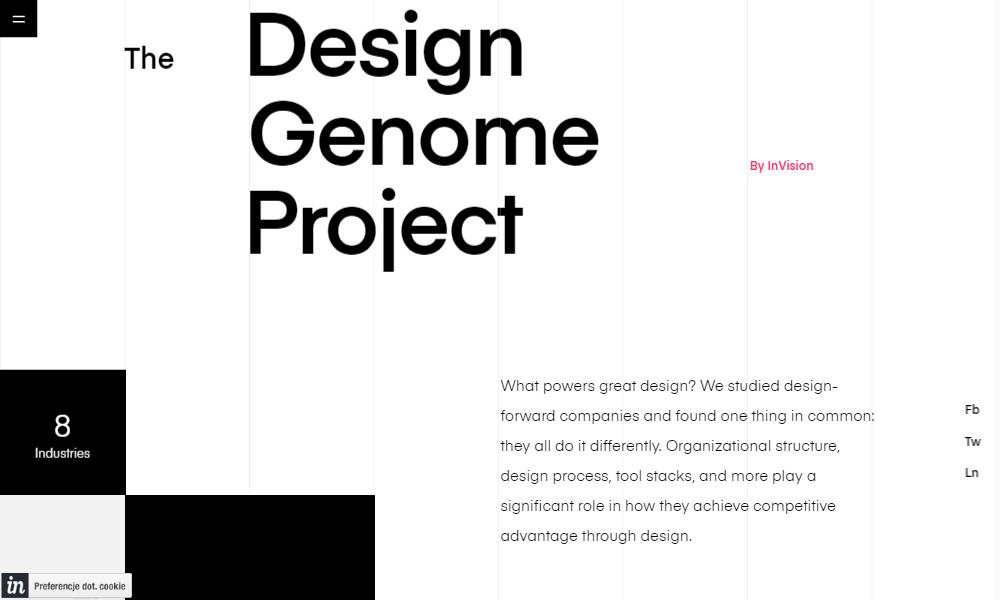Inspirujące strony internetowe - Design genome