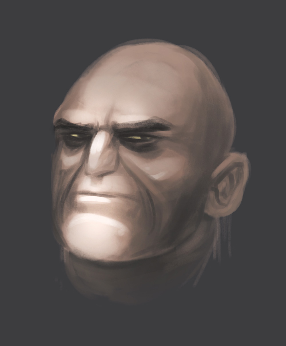 Rysunek twarzy - digitalpainting