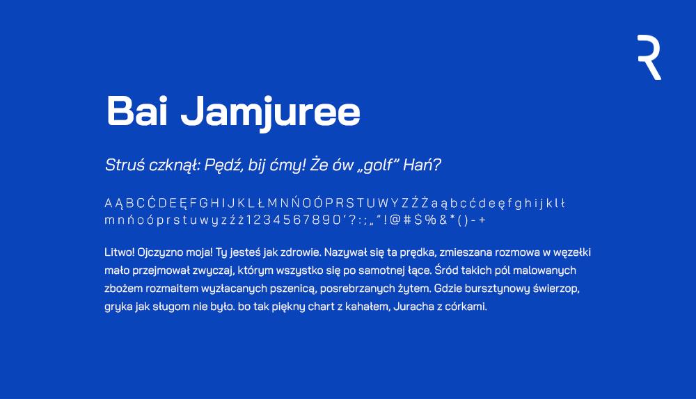 Darmowa czcionka - Bai Jamjuree