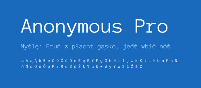 01 Anonymous Pro Darmowe fonty z polskimi znakami