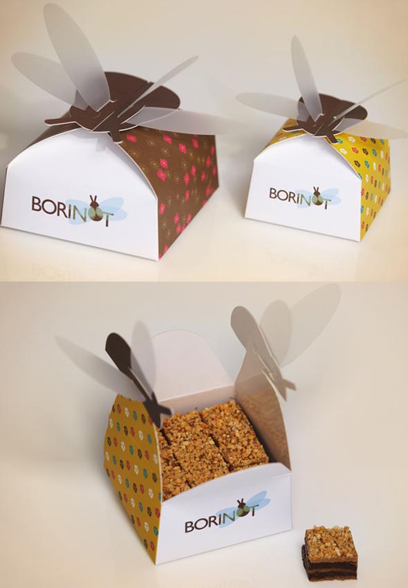 Pudełko ciasteczek Borinots - via lovelypackage