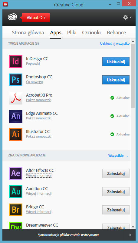 creative cloud zrzut