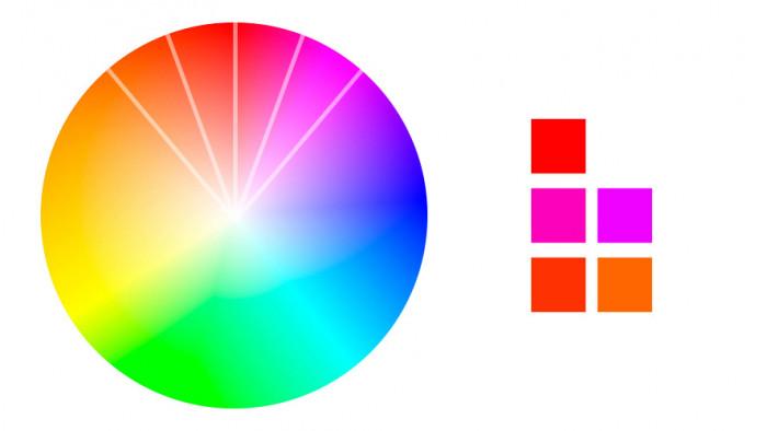 Analogiczne dobieranie kolorów z palety barw