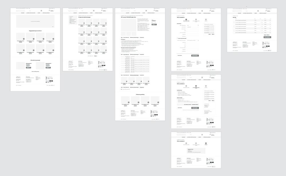 Makiety wykonane w programie Adobe XD