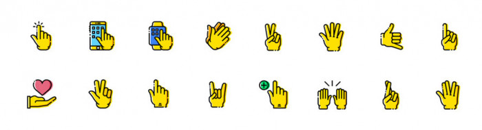 16-gesture-icons