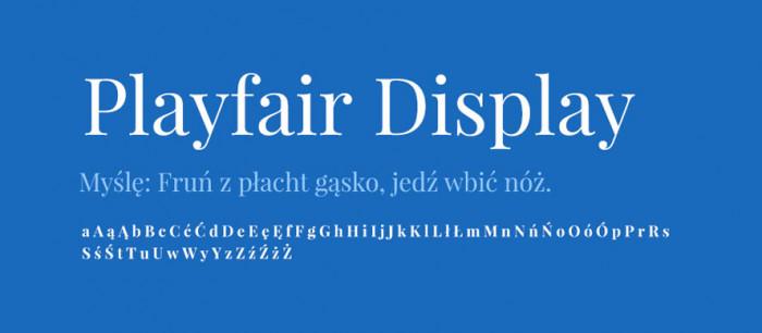09 Playfair Display Darmowe fonty z polskimi znakami