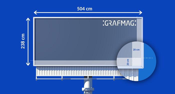 Wizualizacja marginesów na billboardzie