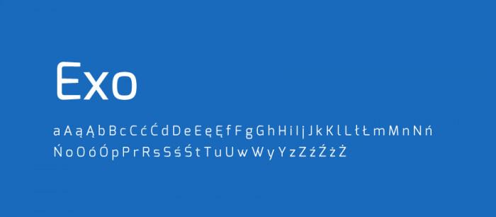 13 Exo Darmowe fonty z polskimi znakami