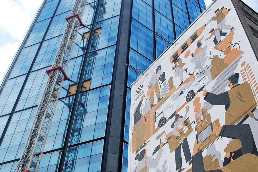 mural project | volkswagen | 2021, Dawid Ryski