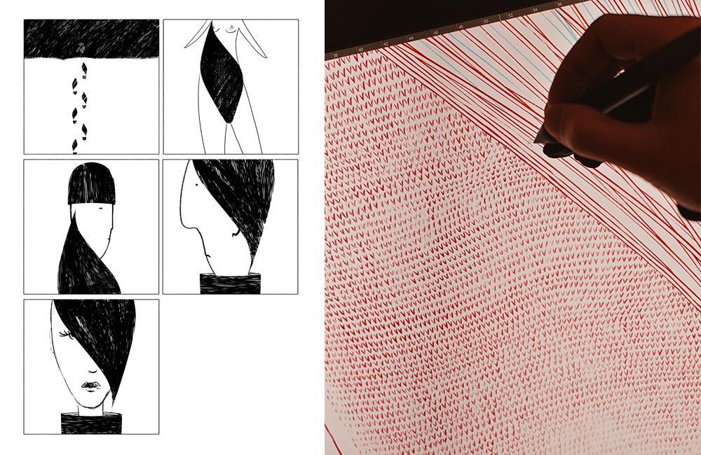 Proces powstawania ilustracji Bartosza Kosowskiego